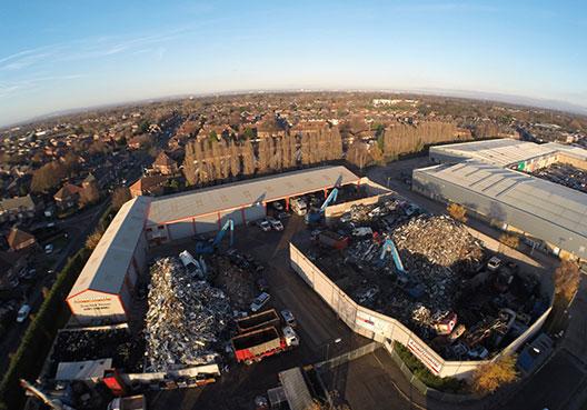 Aerial view of J Davidson Scrap
