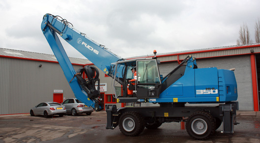 The new Fuchs 350 Scrap Handler