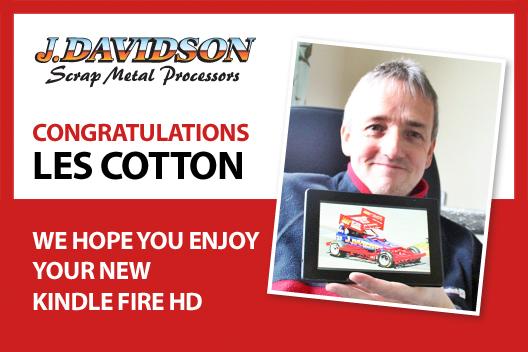 Winner Les Cotton